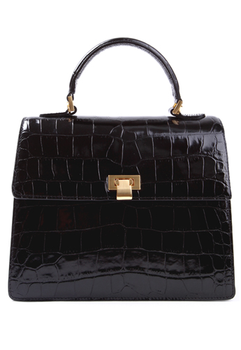 Premium croc bag(Black large)