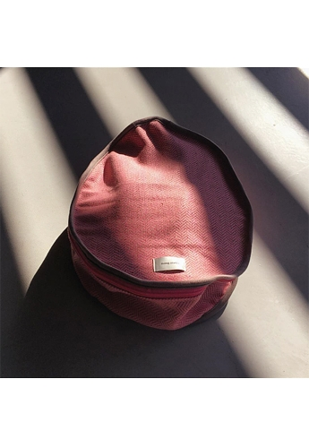 Pink Herringbone hat-case