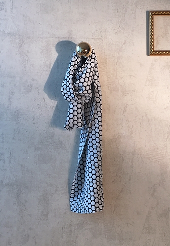 White dot silk scarf