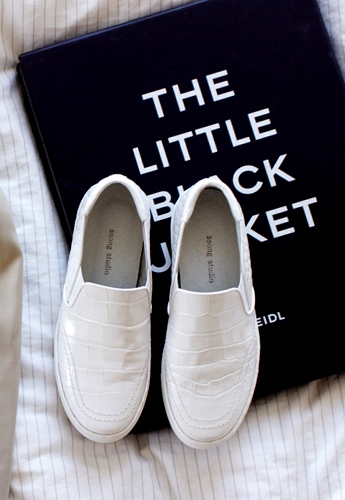 Real Leathers White Slip-on(수제화)