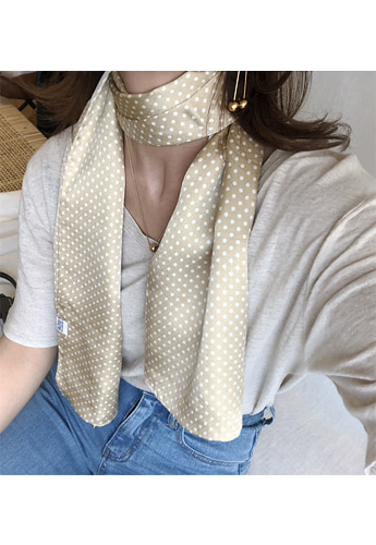 [new beige] silk100% scarf